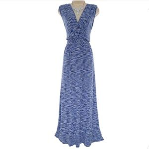 XL X-LARGE▪️ULTRA-SOFT BLUE STRIATED MAXI DRESS